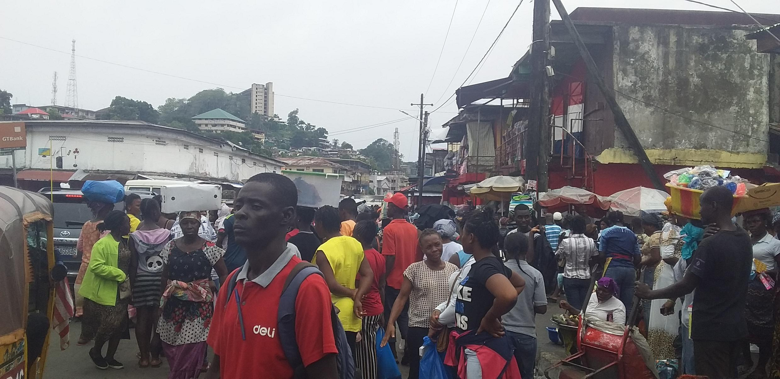 Liberians are defying the health protocols to prevent Covid-19 and are buying food at the markets before the lockdown
