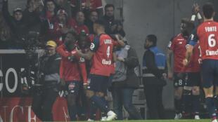 L'Ivoirien Jonathan Bamba, buteur avec Lille face au PSG.