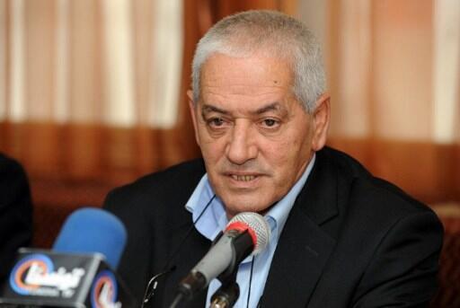 Houcine Abbassi le secrétaire général de L'UGTT lors d'une conférence de presse à Tunis, le 5 décembre 2012.