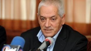 Houcine Abbassi, le secrétaire général de l'UGTT, lors d'une conférence de presse à Tunis, le 5 décembre 2012.