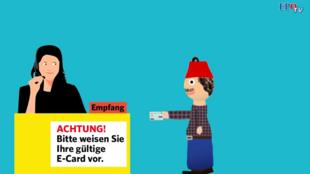 Une capture d'écran de la vidéo du FPÖ.