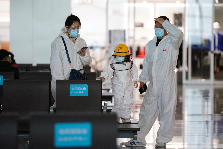 Tại sân bay quốc tế của thành phố Vũ Hán, nơi xuất phát dịch Covid-19. Ảnh chụp ngày 10/04/2020.