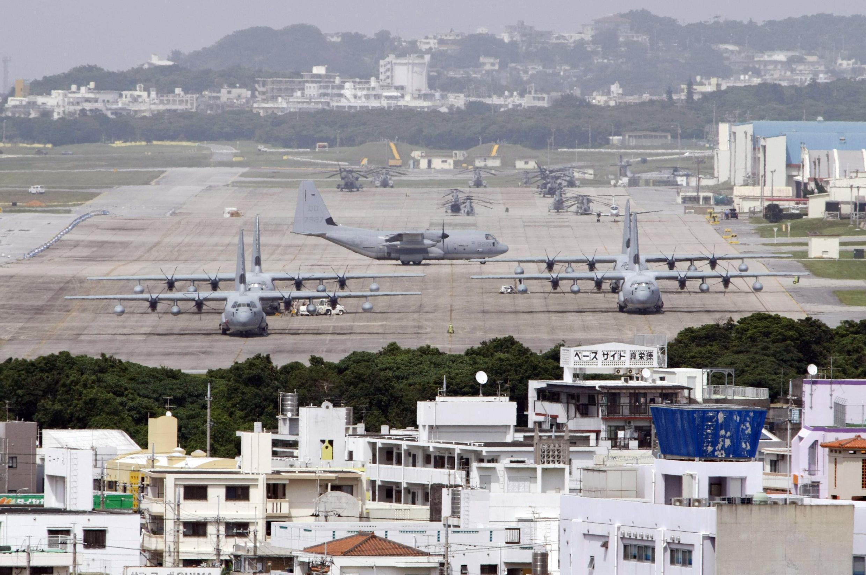 Base aérienne américaine de Futenma sur l'île d'Okinawa, le 26 avril 2012.