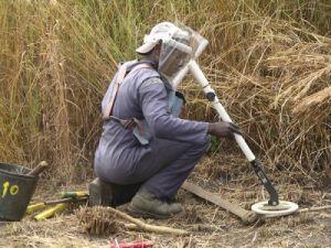 Calcula-se que cerca de 2116 áreas permaneceriam por desminar em Angola