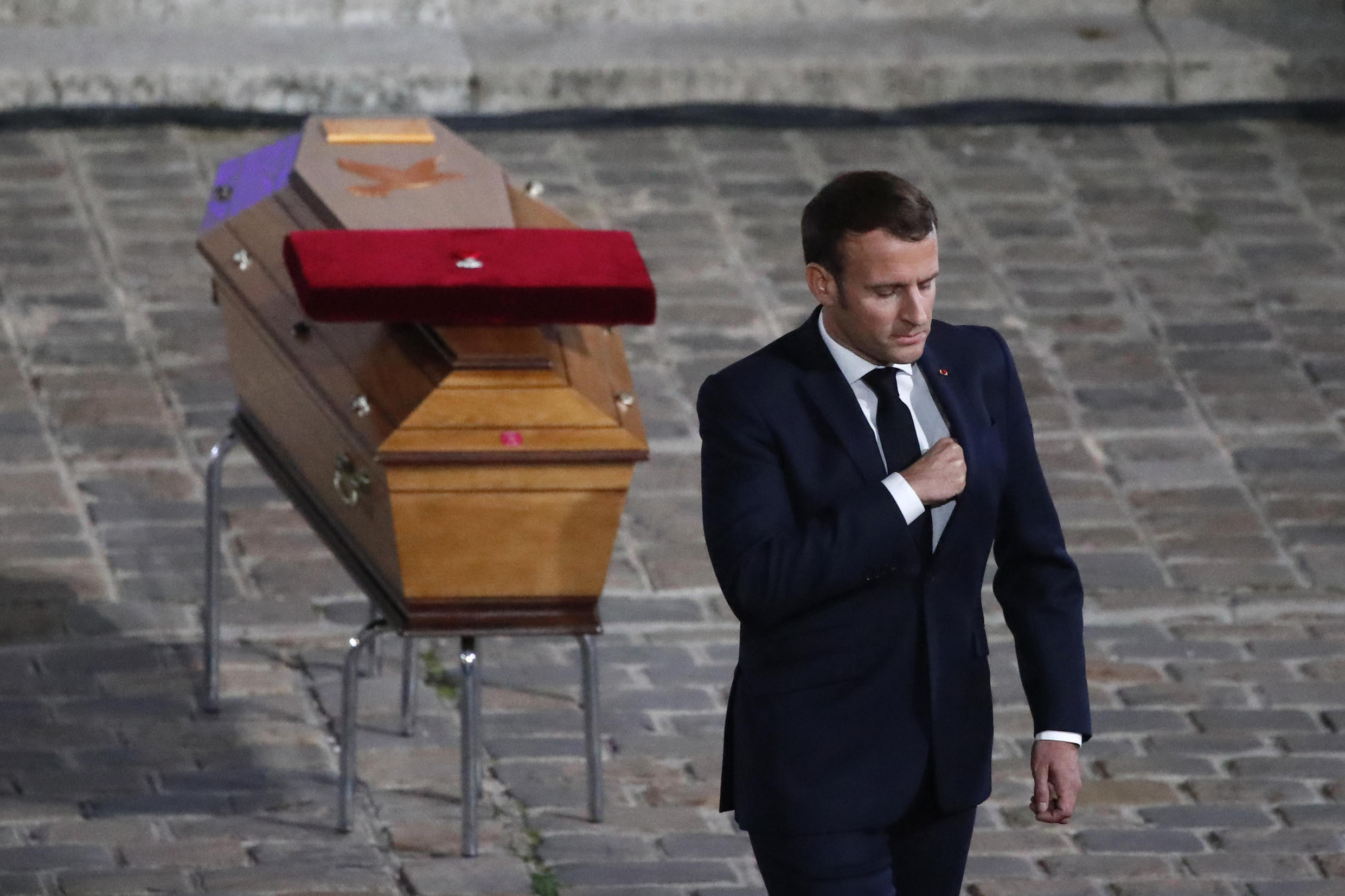 President Emmanuel Macron defended France's strict brand of secularism when he paid tribute to schoolteacher Samuel Paty, who was beheaded after showing his class cartoons of the Prophet Mohammed in a lesson on free speech
