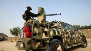 Dakarun sojin Najeriya a jihar Borno.