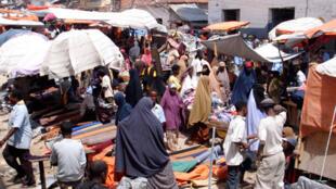 En Somalie, le marché de Bakara à Mogadiscio est en pleine rénovation depuis deux ans.