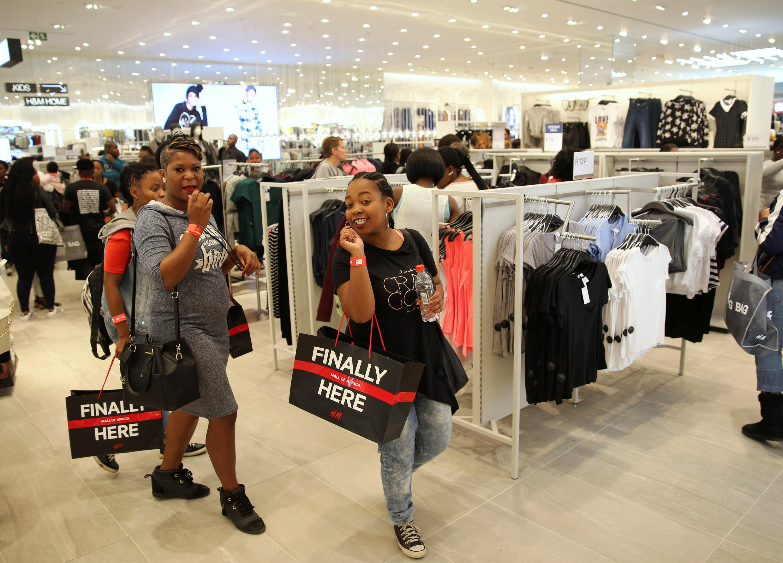 Une boutique du centre commercial «Mall of Africa» à Midrand, près de Johannesburg, le 28 avril 2016.