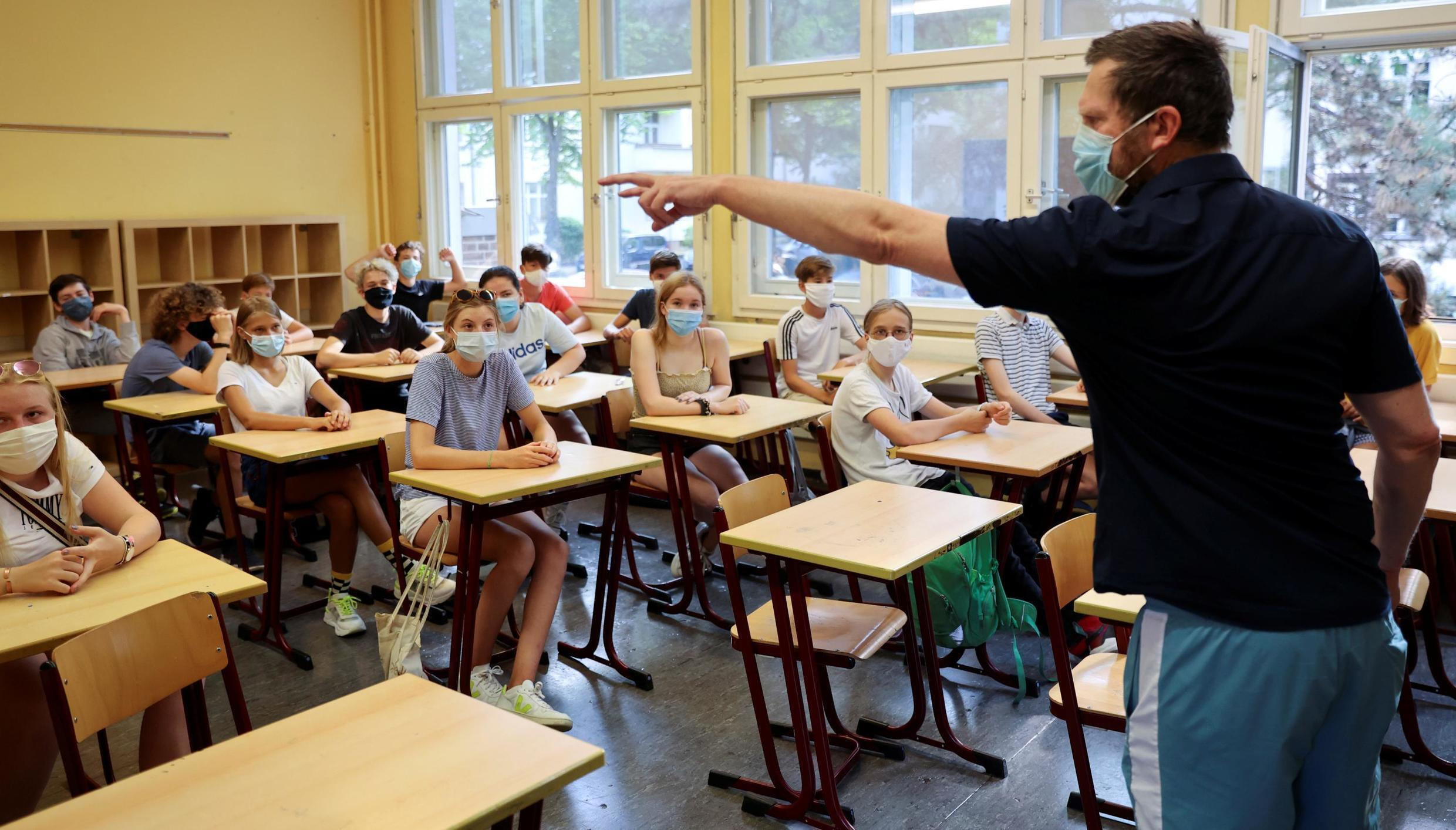 German schools and colleges reopened on 10 August, with masks and physical distance rules to limit the spread of Covid-19.