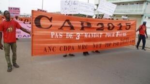 L'alliance des partis de l'opposition togolaise Cap 2015 conteste le calendrier des élections.