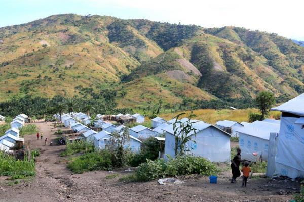 Camp de réfugiés.