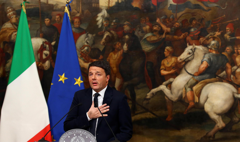 Маттео Ренци на пресс-конференции по итогам референдума, Рим, 5 декабря 2016.
