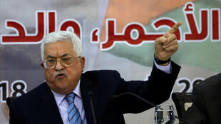 Le président de l'Autorité palestinienne, Mahmoud Abbas, lors du conseil central de l'OLP, le 28 octobre 2018 (Photo d'illustration).