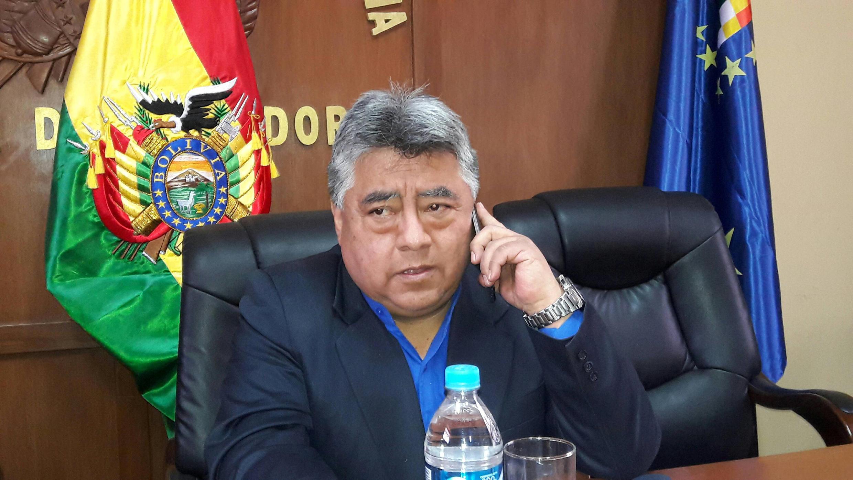 Photo de Rodolfo Illanes, vice-ministre de l'Intérieur, assassiné alors qu'il était séquestré par des mineurs.