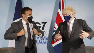 Emmanuel Macron - G7 - Boris Johnson - Reino Unido - Royaume-Uni - França - France - Brexit