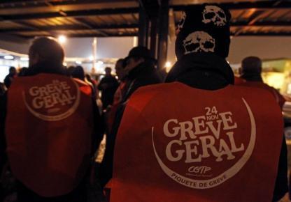 Portugal vive su primera huelga general en 22 años.