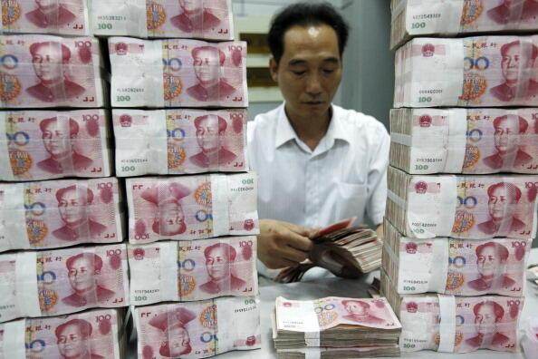 Succursale de la banque chinoise ICBC à Huaibei, province de l'Anhui, juillet 2011.