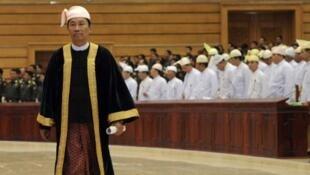 Ông Shwe Mann, phó chủ tịch đảng cầm quyền Miến Điện USDP, chủ tịch Quốc hội, (ảnh chụp ngày 04/07/2012)