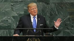 O Presidente Donald Trump durante o seu discurso na Assembleia-Geral da ONU neste 19 de Setembro.
