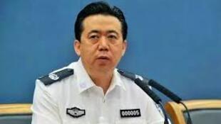 圖為前國際刑警主席孟宏偉會議照