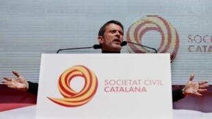 Manuel Valls en Barcelona, el 18 de marzo de 2018.