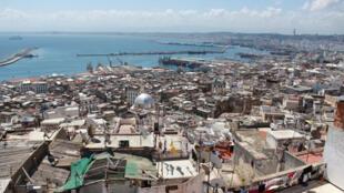 La baie d'Alger vue depuis la Casbah.