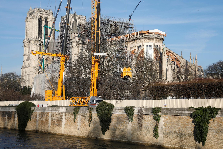 Начало восстановительных работ Нотр-Дам де Пари, 18 декабря 2019.
