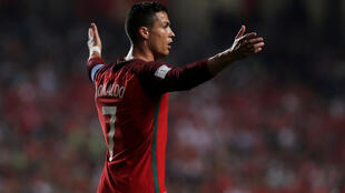 Cristiano Ronaldo, jogador do Real Madrid e capitão da Selecção Portuguesa.