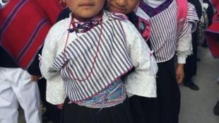 Alumnos de la escuela de Chibuleo.