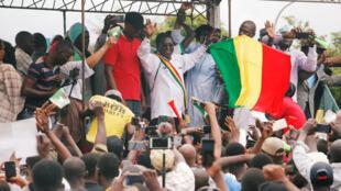 Comme la semaine précédente (photo), Soumaïla Cissé et ses partisans ont défilé à Bamako pour contester les résultats de la présidentielle malienne, samedi 25 août 2018.