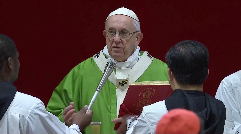 Papa Francisco faz discrusos de encerramento da reunião histórica sobre pedofilia na igreja católica, neste domingo 24 de fevereiro de 2019.