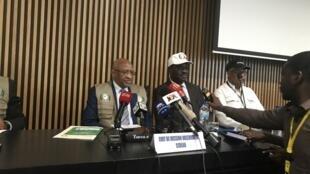 Conferência de imprensa da missão de observação eleitoral da CEDEAO em Bissau a 25 de Novembro de 2019.