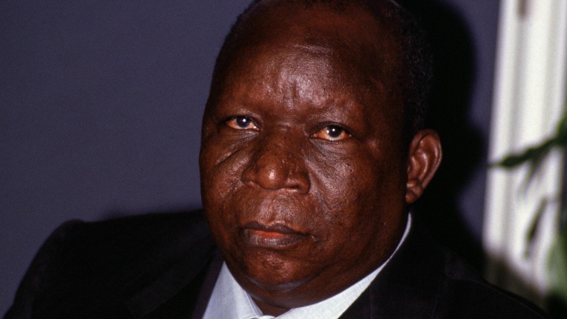 Ali Saïbou, président du Niger, le 18 juin 1990, en France.