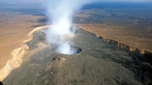 Вулкан Эрта-Але в приграничной с Эритреей зоне Эфиопии