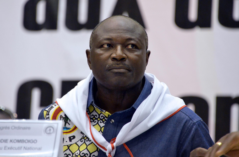 Eddie Komboïgo, 47 ans, le nouveau président du parti de Blaise Compaoré, le 10 mai 2015 lors du congrès du CDP.