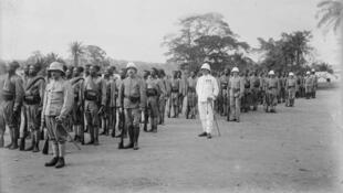 Édéa, la 2ème compagnie du bataillon n°1 du régiment du Cameroun, diverses formations, 30 janvier 1917.
