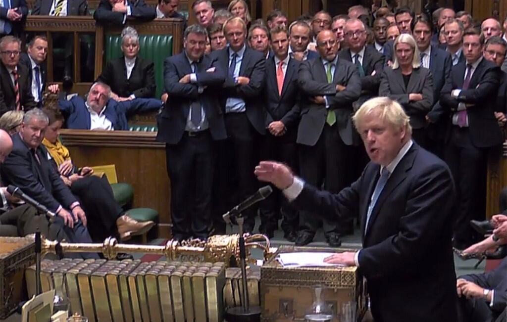 Thủ tướng Anh Boris Johnson phát biểu tại Nghị Viện ngày 09/09/2019
