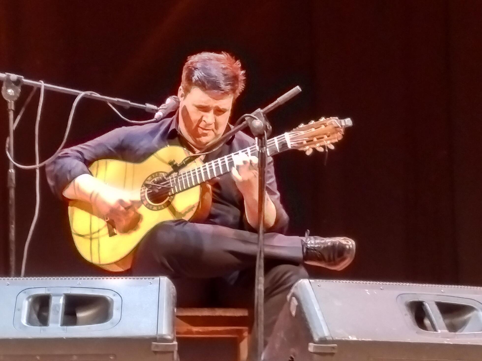 Ricardo Fernández del Moral, cantaor y guitarrista manchego. Almansa, mayo de 2018.