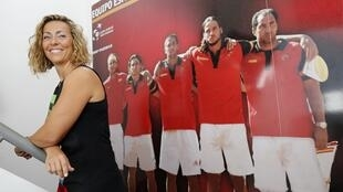 Gala León, la nueva capitana del equipo ibérico de Copa Davis, este 23 de septiembre en Sevilla.