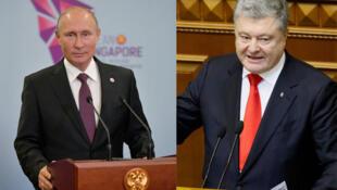 Os presidentes Vladimir Putin e Petro Poroshenko sofrem com queda de popularidade.