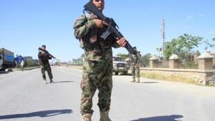 Un soldat des forces armées afghanes dans la province de Ghazni, le 18 mai 2020.