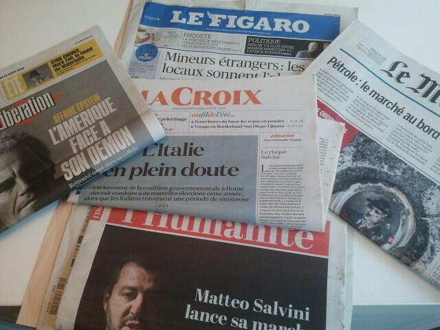 Primeiras páginas dos jornais franceses 12 de agosto de 2019