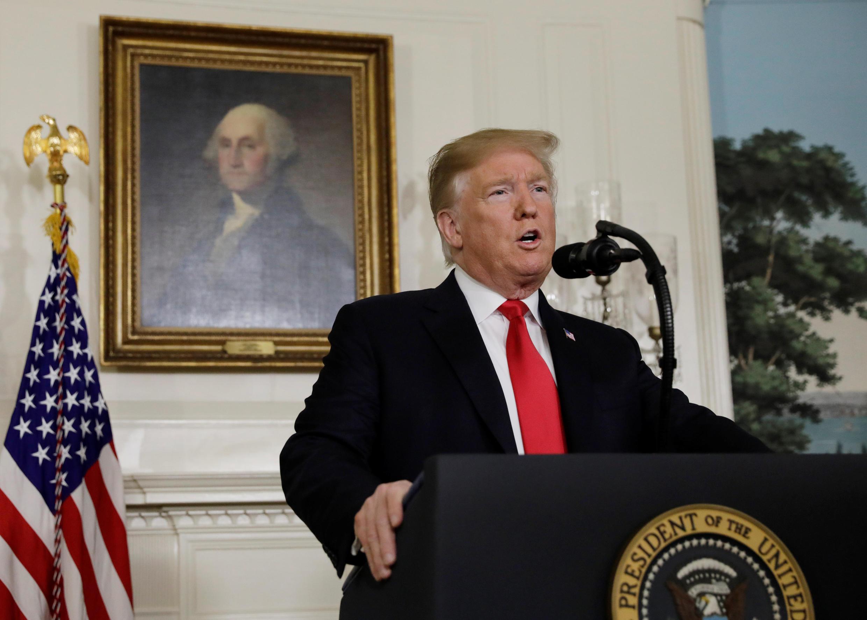 Le président américain lors de son allocution télévisée, le samedi 19 janvier 2019.
