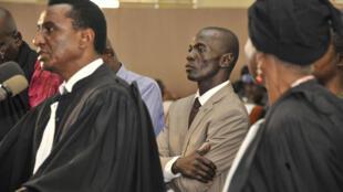 Le général malien Amadou Sanogo, auteur du coup d'État de 2012, lors de son procès pour meurtres de soldats, le 30 novembre 2016 à Sikasso.
