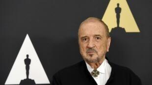 Jean-Claude Carrière lors de la remise de son Oscar d'honneur à Los Angeles, en 2014.
