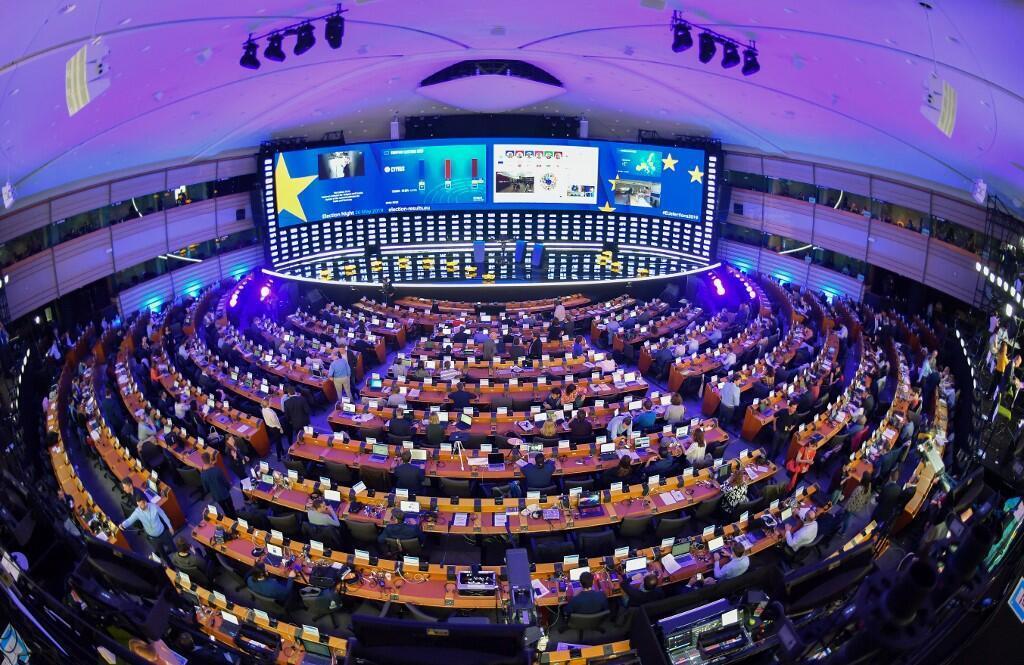 نمای داخلی پارلمان اروپا