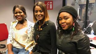De g. à dr. : Laetitia (entrepreneure et mère de 3 enfants), Diara Ndiaye et Line.