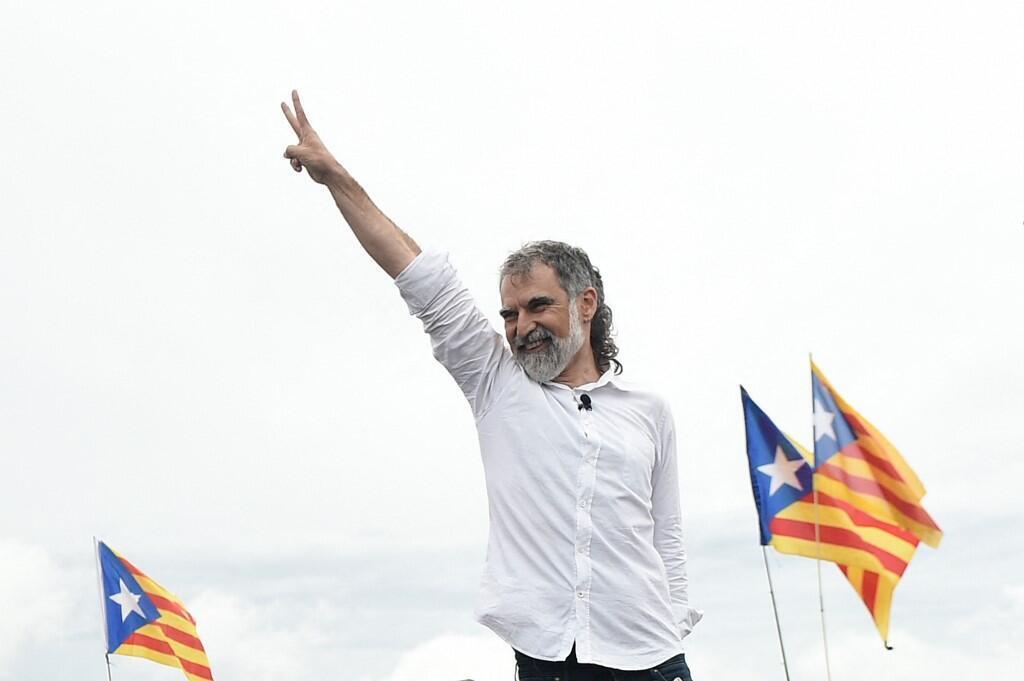 Jordi Cuixart, l'un des neuf indépendantistes graciés, à sa sortie de prison, le 23 juin 2021.
