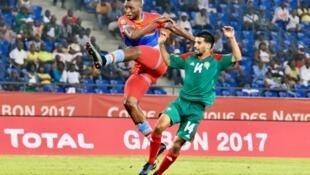 L'attaquant de la RDC Junior Kabananga a inscrit le but de la victoire des Léopards face au Maroc (1-0) lors du premier match de sa sélection dans la CAN 2017 au Gabon.