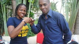 Nash et Claudy Siar à Abidjan, lors de la 6ème édition du FESPAM.